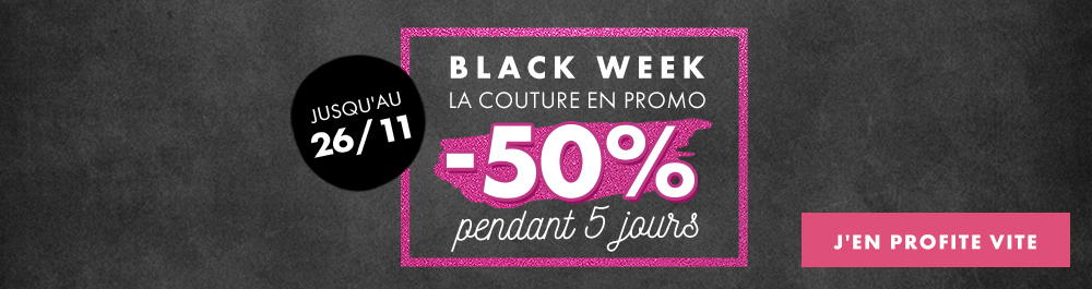 Black Friday - couture - novembre 2018