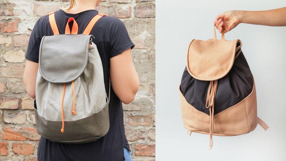 Des cours en ligne de qualité chez Makerist - Coudre un sac à dos cuir en cuir et toile - Apprendre à coudre