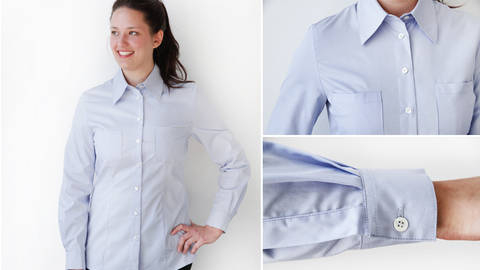 Sew a classic blouse - quality online courses at Makerist