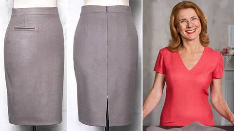 Des cours en ligne de qualité chez Makerist - Taillée sur mesure : coudre une jupe crayon parfaitement ajustée