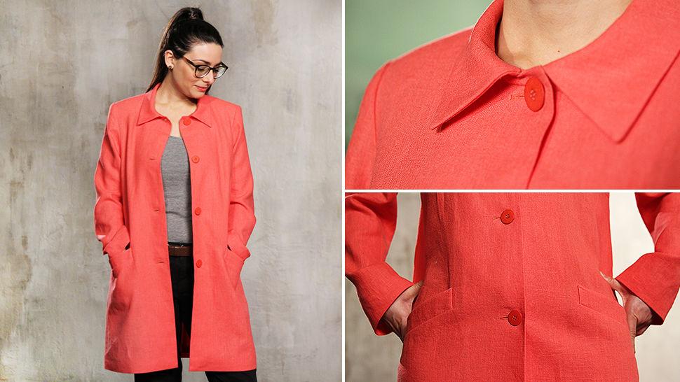 Des cours en ligne de qualité chez Makerist - Coudre un manteau de mi-saison facilement - Apprendre à coudre