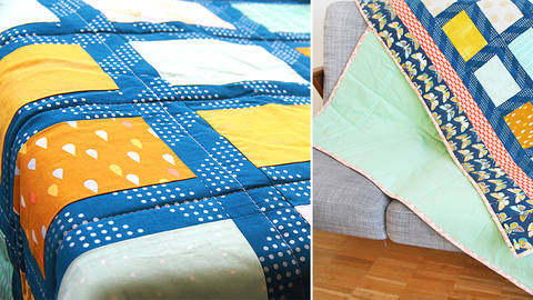 The Everyday Blanket - sewing large patchwork projects with a household machine - quality online courses at Makerist