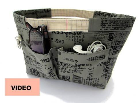 Des cours en ligne de qualité chez Makerist - Cours-projet - Apprenez à coudre l'organisateur de sac