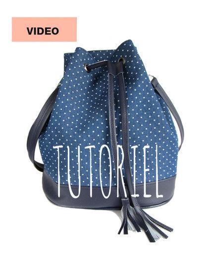 Des cours en ligne de qualité chez Makerist - Cours-projet - Le sac seau Louise - Apprendre à coudre