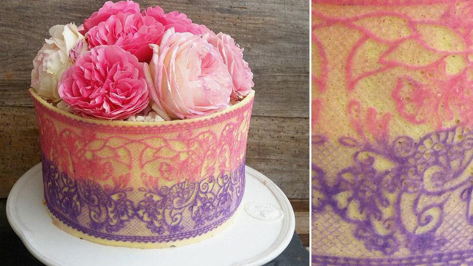 Dekorbiskuit für Torten - Torten dekorieren lernen - hochwertige Online-Kurse bei Makerist