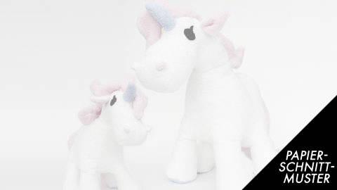 Schnittmuster + Nähanleitung Einhorn (Pony) in zwei Größen