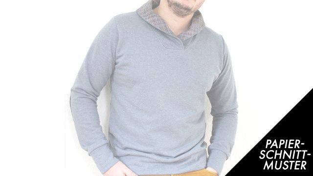 Gedrucktes Schnittmuster für: Mr.Klassik - klassischer Männerpullover Gr.XS-4XL - Schnittmuster kaufen im Makerist Materialshop