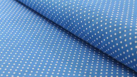 Baumwollstoff Polka Dot royalblau: Judith - 148 cm kaufen im Makerist Materialshop