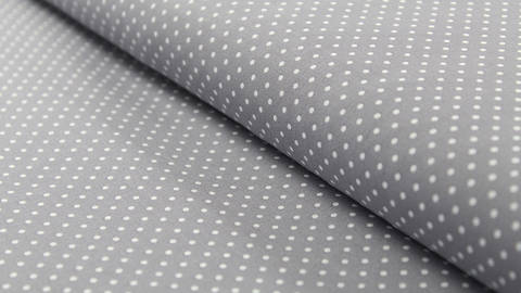 Grauer Polka Dot Baumwollstoff: Judith - 148 cm kaufen im Makerist Materialshop
