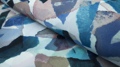 buy Blue Printed Summer Fabric: Valentina - 145cm in the Makerist Supplies