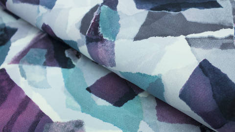 buy Violet Printed Summer Fabric: Valentina - 145cm in the Makerist Supplies