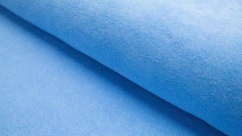 Himmelblauer Frotteestoff: Primus - 155 cm kaufen im Makerist Materialshop