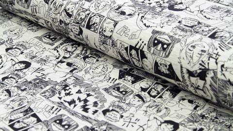 Acheter Jersey coton coton poivre et sel vélo : Manga - 155cm dans la mercerie Makerist