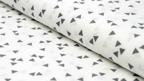 Weißgrauer Dreieck Baumwollstoff: Triangle - 150 cm kaufen im Makerist Materialshop
