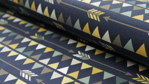 Blauer Dreieck und Pfeile Jersey: Vicente - 160 cm  kaufen im Makerist Materialshop