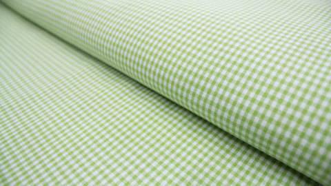 Hellgrün-weiß karierter Baumwollstoff: Cotton Vichy 0,2  - 140 cm kaufen im Makerist Materialshop