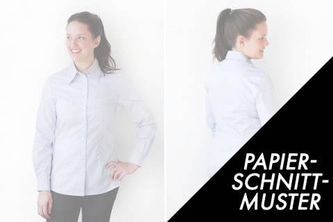 Gedrucktes Schnittmuster für: Klassische Hemdbluse Größe 48 - 60 kaufen im Makerist Materialshop
