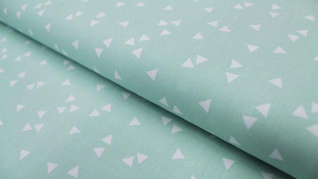 Mintfarbener Dreieck Baumwollstoff: Triangle - 150 cm - Stoffe kaufen im Makerist Materialshop