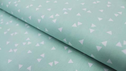 Baumwollstoff Dreieck mint: Triangle - 150 cm kaufen im Makerist Materialshop