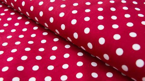 Karminroter Maxi Polka Dot Baumwollstoff: Judith - 148 cm kaufen im Makerist Materialshop