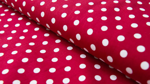 buy Red Cotton Fabric: White Polka Dots - Judith - 148cm in the Makerist Supplies