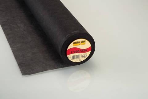 Schwarze Bügeleinlage Standard F220 fixierbar - 90 cm kaufen im Makerist Materialshop