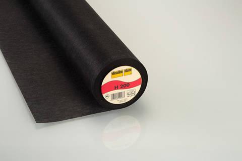 Schwarze Bügeleinlage Softline H200 fixierbar - 90 cm kaufen im Makerist Materialshop