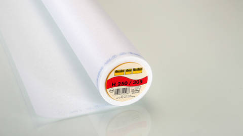 Weiße Bügeleinlage Standard H250 fixierbar - 90 cm kaufen im Makerist Materialshop