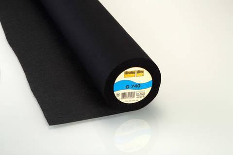 Schwarze Gewebeeinlage G740 fixierbar - 90 cm kaufen im Makerist Materialshop