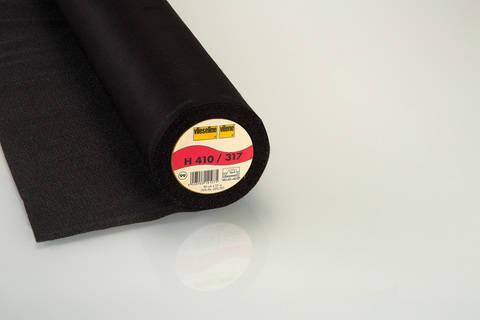 Schwarze Bügeleinlage Softline H410 fixierbar - 90 cm kaufen im Makerist Materialshop
