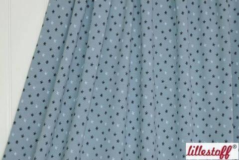 Acheter Jersey bio bleu-gris lillestoff : Fleur étoilée - 150 cm dans la mercerie Makerist