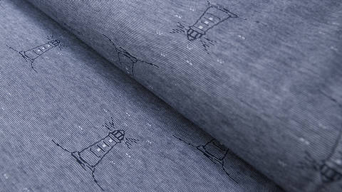 buy Navy Blue Jacquard Jersey: Lighthouse - 160 cm in the Makerist Supplies