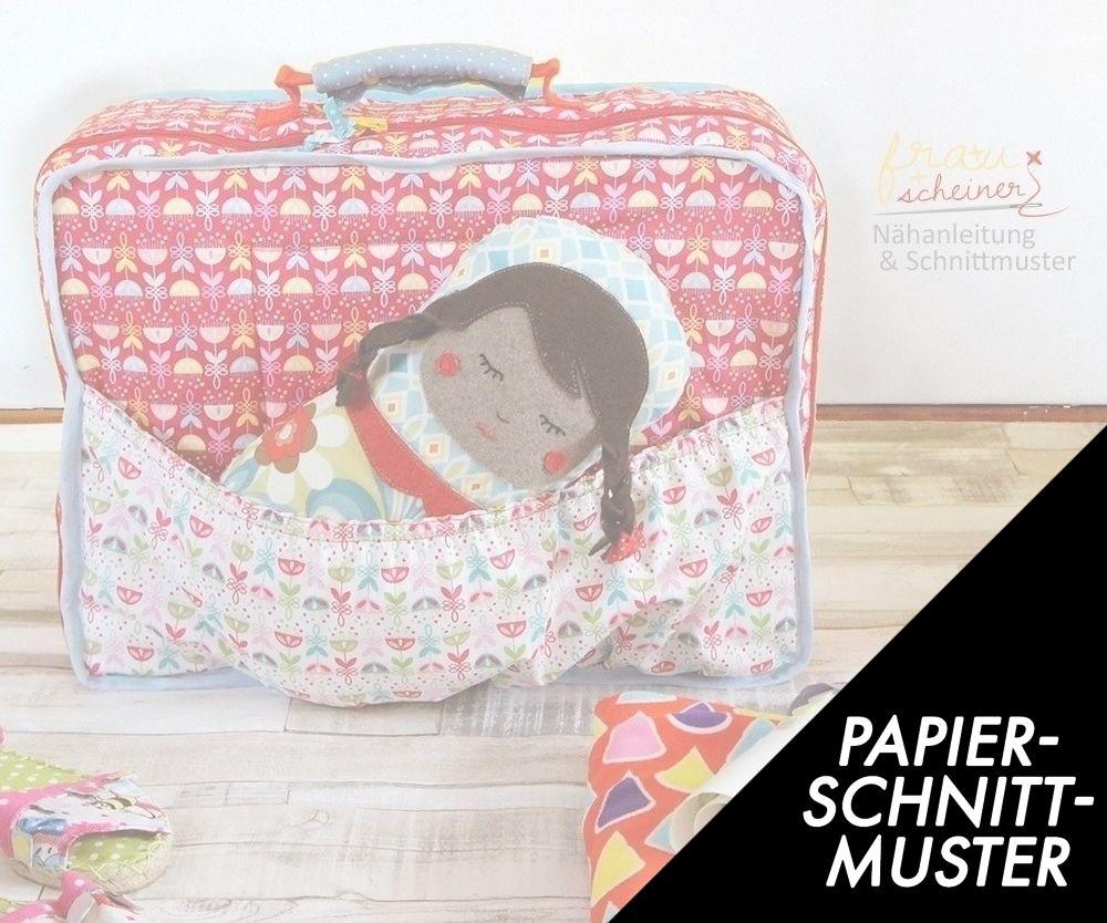 Gedrucktes Schnittmuster für: Kinder Koffer nähen