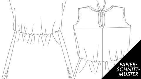 einfaches Jersey-Kleid in zwei Längen, Gr. 36-46