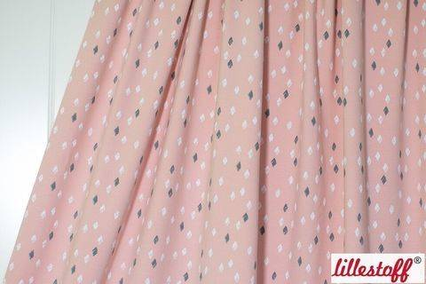 Rosafarbener Bio-Jersey lillestoff: Timantti - 150 cm  kaufen im Makerist Materialshop