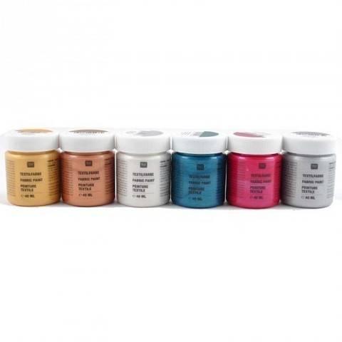Textilfarben Metallic 6x40ml kaufen im Makerist Materialshop