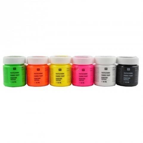 Textilfarben Neon 6x40ml kaufen im Makerist Materialshop