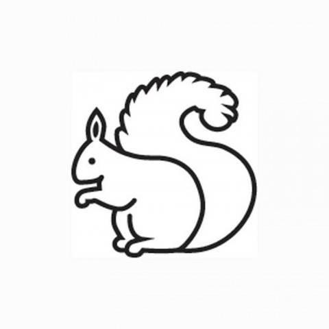 """Mini Stempel """"Eichhörnchen"""" Ø 1,5cm kaufen im Makerist Materialshop"""