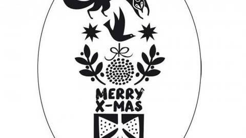 "Stempel ""Merry X-Mas Fuchs"" oval 5x7cm kaufen im Makerist Materialshop"