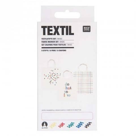 Textilstifte Basic 5 Stück kaufen im Makerist Materialshop