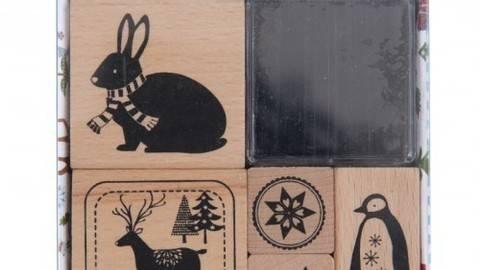 Stempelset Winterwald Tiere 8x8cm kaufen im Makerist Materialshop