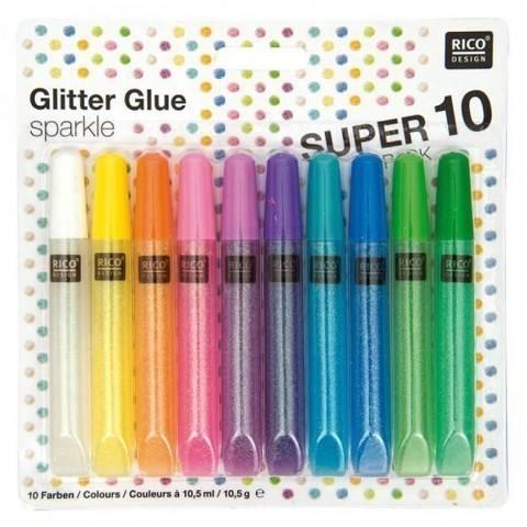Glitter Glue Sparkle 10x10,5ml kaufen im Makerist Materialshop