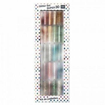 Glitter Set 30-teilig - Bastelmaterial kaufen im Makerist Materialshop
