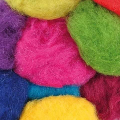 Schafwolle Mix bunt 100g kaufen im Makerist Materialshop