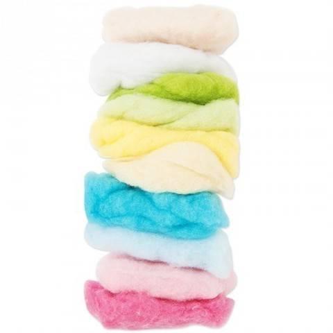 Schafwolle pastell-mix 100g kaufen im Makerist Materialshop