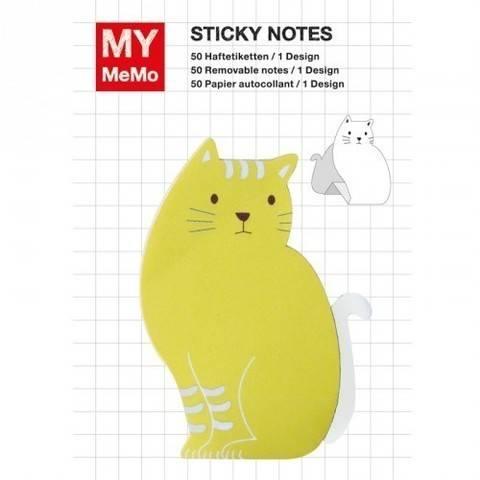 Sticky Notes Katze gelb 50 Stück kaufen im Makerist Materialshop