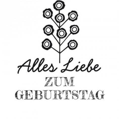 """Stempel """"Alles Liebe"""" rund 3,5cm kaufen im Makerist Materialshop"""