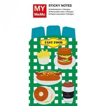 Sticky Notes Fast Food 100 Stück - Bastelmaterial kaufen im Makerist Materialshop