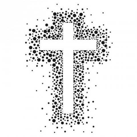 Stempel Kreuz mit Punkten 6x4cm kaufen im Makerist Materialshop
