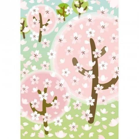 Filzsticker Kirschblüten 10x19 cm kaufen im Makerist Materialshop